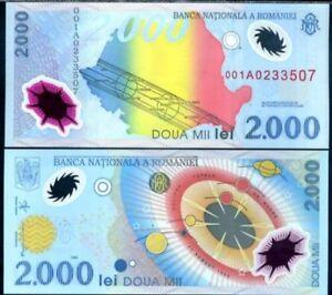 ROMANIA 2000 LEI 1999 P 111 POLYMER UNC