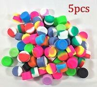5pcs 3ml Silicone Container Jar Non-Stick Mixed colors Round Wholesale lot
