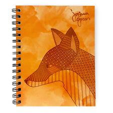 Monster papelería-Verde A5 Forrado Notebook-Hecho en Reino Unido-Fox