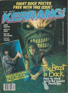 KERRANG! #104 OCT 1985: IRON MAIDEN Kiss LITTLE STEVEN Paul Sabu MOTLEY CRUE