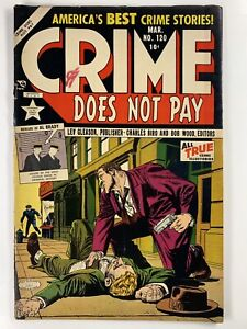 CRIME DOES NOT PAY #120 FVF 7.0 C/OW pages 1953