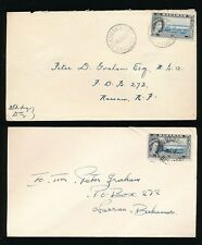 BAHAMAS 1961 POSTMARKS CAYS...GREAT GUANO DEADMANS MAN of WAR LOWER...4 ITEMS