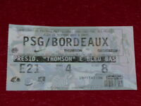 [COLLECTION SPORT FOOTBALL] TICKET PSG / BORDEAUX 19 DECEMBRE 2002 Champ.France