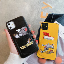 For iPhone SE 2020 11 Pro Max XR 8 Card Hold Cute Back Wallet Cartoon Case Cover