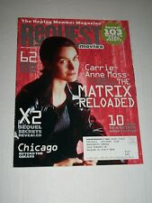 REQUEST MOVIES Magazine May/June 2003 Carrie Ann Moss Cover The Matrix Reloaded