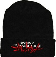 Evangelion Logo Wool Hat Black Beanie Knit Neon Genesis Nerv Shinji Ikari Eva