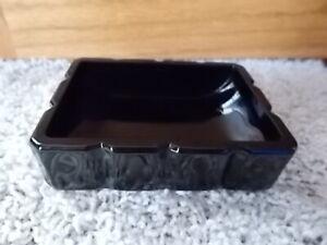 NEW! Vintage High Gloss Black Ceramic Freestanding Sink Soap Dish MOD DESIGN!