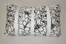 """$80 Bar III Pleated Floral 12""""x20"""" White/Black Embroidery Decorative Pillow"""