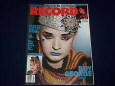 1985 FEBRUARY RECORD MAGAZINE - BOY GEORGE COVER - GREAT PHOTOS - BO 42