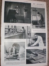 Photo article art painting restoration laboratory Courtauld Institue 1935