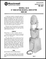 Delta Rockwell 14 Inch Wood/Metal Band Saw Manual