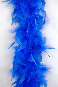 65 Gram CHANDELLE FEATHER BOA - ROYAL 2 Yards Boas Party/Costume/Halloween/Craft