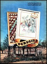 PUBBLICITA'1953 CIOCCOLATO PERUGINA MANIFESTO CARTELLO STRADALE PREMIO NAZIONALE