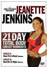 21 DAY TOTAL BODY CIRCUIT WORKOUT JEANETTE JENKINS DVD NEW HOLLYWOOD TRAINER