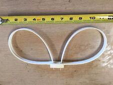 White Zip Tie Plastic Hand/Leg Cuffs Monadnock 10 Ea