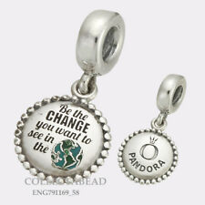 Authentic Pandora Silver Be The Change You Want To See Dangle Bead ENG791169_58