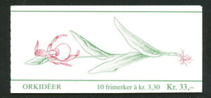 Norway 1992 Flowers, Orchids, 2nd series, Complete Booklet, MNH/UNM