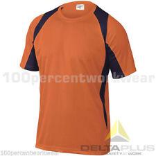 Size MEDIUM Delta Plus BALI ORANGE 100% Polyester Mens Base Layer T Tee Shirt