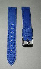 18mm Canvas Uhrenarmband Blau