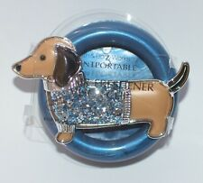 BATH BODY WORKS BLUE DACHSHUND DOG SCENTPORTABLE HOLDER VISOR CLIP CAR FRESHENER