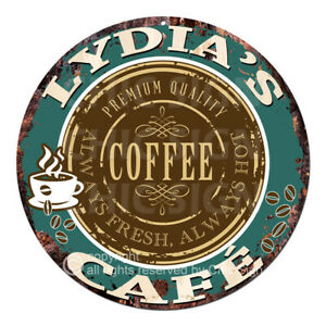 CWCC-0243 LYDIA'S COFFEE CAFE Sign Valentine Mother's Day Housewarming Gift Idea