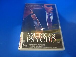 American Psycho DVD Christian Bale Reese Witherspoon R4 Free Tracked