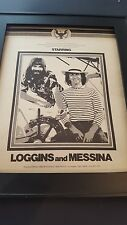 Loggins & Messina First Annual American Song Festival 74 Promo Poster Ad Framed!