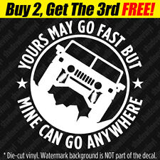 """""""GO ANYWHERE"""" Vinyl Decal Sticker 4x4 SUV Off-Road Funny Fits: Hummer H1 Humvee"""
