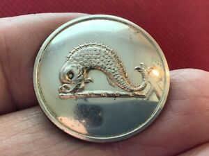 DURHAM Family of FIFE SCO. ~ DOLPHIN NIANT 26mm S/P LIVERY BUTTON FIRMIN 1852-75