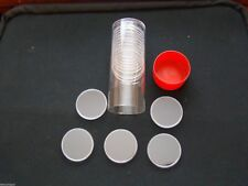 AMERICAN SILVER EAGLE COIN CAPSULES, RED CAPSULE TUBE & 20 H-40 AIR TITES