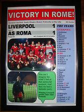 Liverpool 1 AS Roma 1 - 1984 European Cup final - framed print