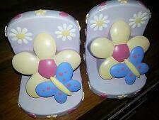 Bookends Marks and Spencer Girls Bedroom or Nursery Playroom Butterflies Flowers