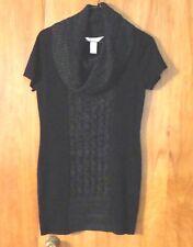 Juniors CANDIES Cowl Neck Sweater Dress Size L Black Excellent Condition