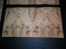 Olive Ash Burl Raw Wood Veneer, 3 panels,  1/42nd thick                 r7726-33