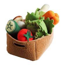 IKEA Set 14 Pcs DUKTIG Vegetables and Basket Pretend Kids Toy Kitchen Children