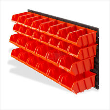 30 teiliges Wandregal inkl. Stapelboxen Sichtboxen Lagerkästen Schütten-Regal