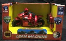 NEW LEAN MACHINE RADIO CONTROLLED RACING MOTORCYCLE WIRELESS REMOTE 27MHZ