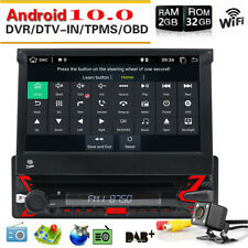 Android 10.0 Single 1Din Car Stereo deck Radio DVD Player Bluetooth GPS Nav WiFi
