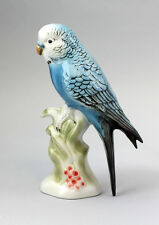 Porzellan-Figur Wagner & Apel Wellensittich Vogel blau H20cm 9942088