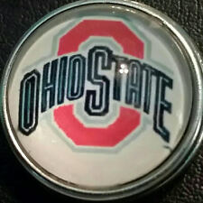 Ohio State (Buckeyes)  style # 1  18 mm snap button USA Seller