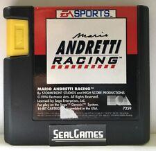 ☆ Mario Andretti Racing ☆ (Sega Genesis, 1994) Authentic Oem ☆ TESTED ☆