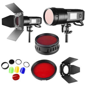 Godox BD-08 Barn Door and Color Filter for AD400Pro Outdoor Flash Strobe Light1x
