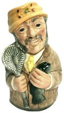"Royal Doulton 4.5"" Miniature Toby Jug Doultonville Fred Fly The Fisherman D6742"