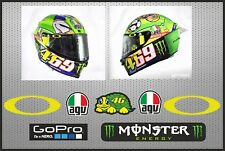 Pegatinas visera casco Valentino Rossi stickers decals visor helmet adhesivos