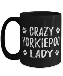 Crazy Yorkiepoo Lady Coffee Mug Funny Dog Mom Gift Idea