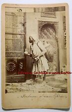 FOTOGRAFIA ORIGINALE fine '800 _ S. CARUANA (?) _ PORTEUR D'EAU FILTREE _ Egitto