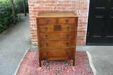 English Oak Arts & Crafts Small 6 Drawer Chest | Bedroom Furniture