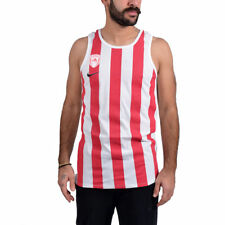 Nike Men's OLYMPIAKOS PIREO basket shirt TANK NUOVO 847500-100 Medium