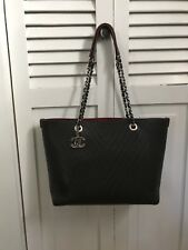 CHANEL Chevron Perforated Calfskin Tote Bag