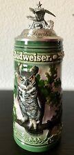 BUDWEISER Stein Birds Of Prey Great Horned Owl Anheuser Busch Limited Edition